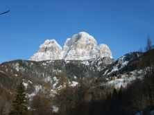 Vista del Monte Pelmo in inverno